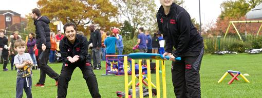 Amna Rafiq (left) has been influential in introducing scores of girls and women to cricket
