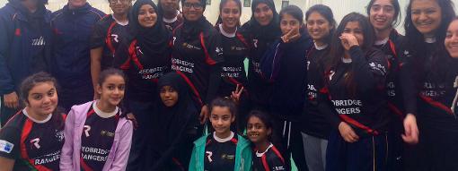 Saba Nasim (top left) and Hannah Newman founded Redbridge Rangers in 2013