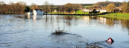 Saltaire Cricket Club in Yorkshire found themselves underwater on Christmas Day 2015