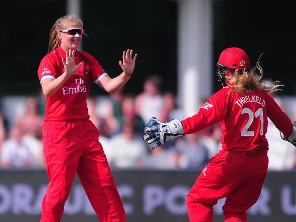Sophie Ecclestone in action for Lancashire Lightning