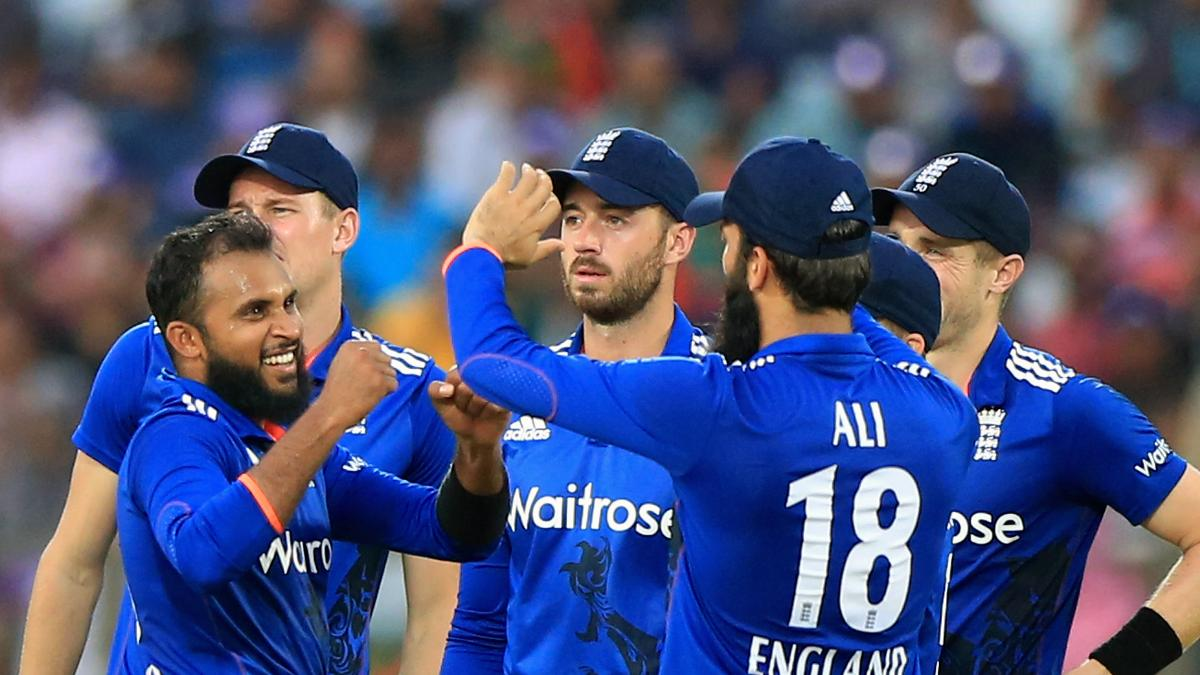 Adil Rashid celebrates one of four wickets
