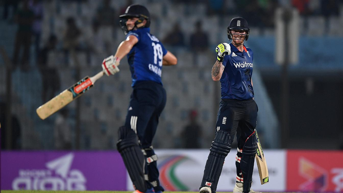 THAT WINNING FEELING - Woakes and Stokes celebrate the win