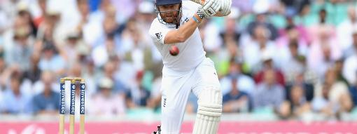Jonny Bairstow plays a shot during the Test against Pakistan