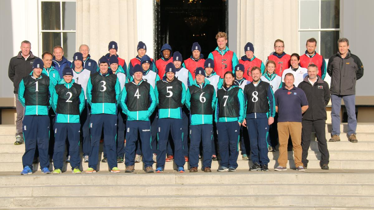 England Lions spent time at Sandhurst as part of their November training camp