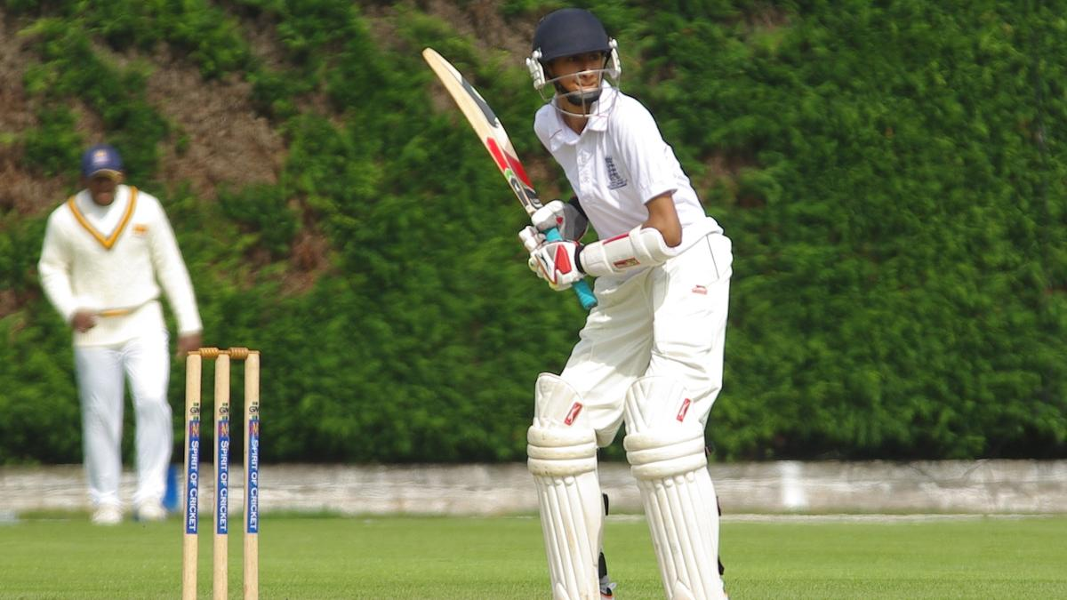High backlift and good balance - traits Hameed displayed during his England Under-17 days