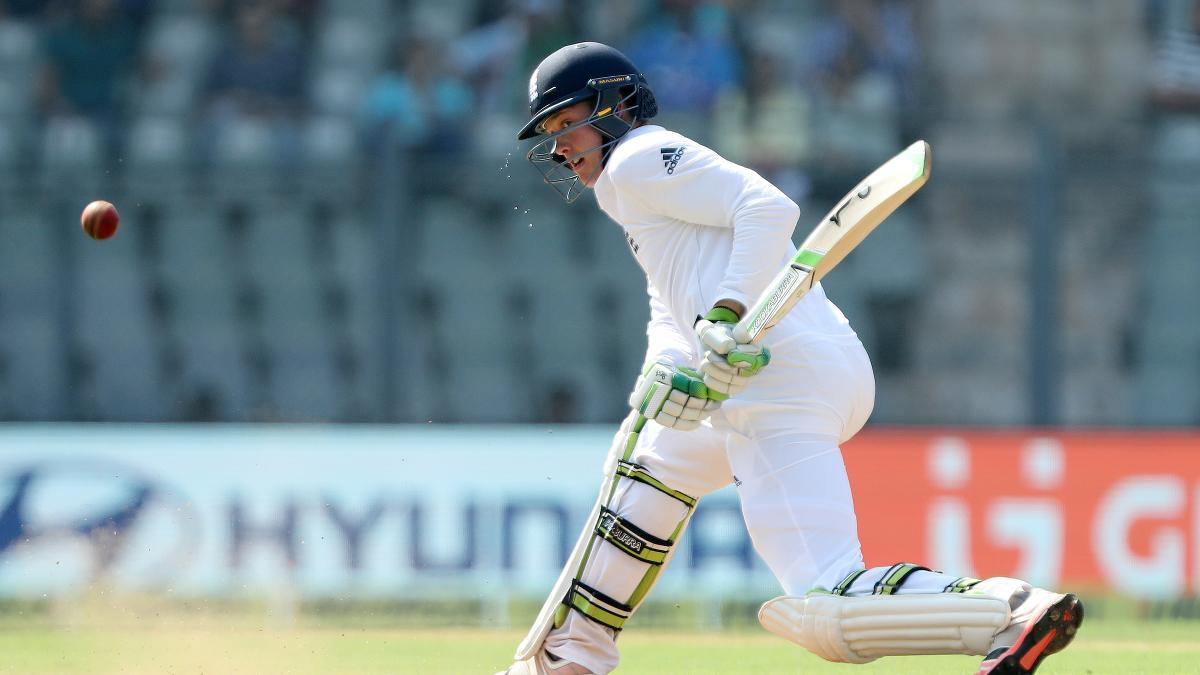 Keaton Jennings employed the reverse sweep to take him to 100