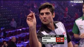 Who won when Alastair Cook played Jimmy Anderson live on Sky Sports?