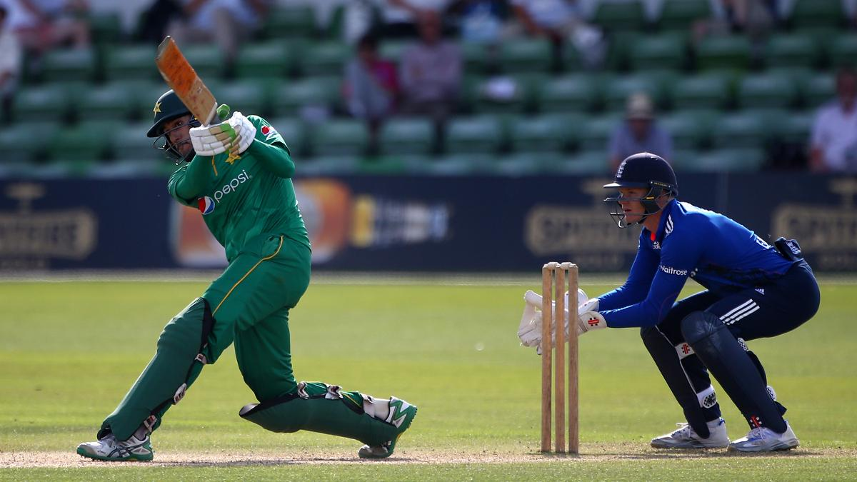 Sam Billings behind the stumps for England A against Pakistan
