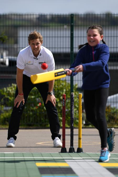 Joe Root coached children at his former school