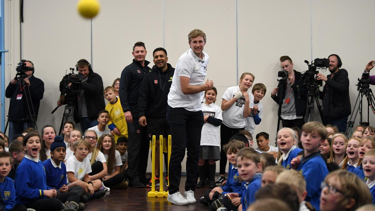 Joe Root launched the Yorkshire Tea National Cricket Week