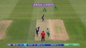 Wicket! Morgan caught in the deep