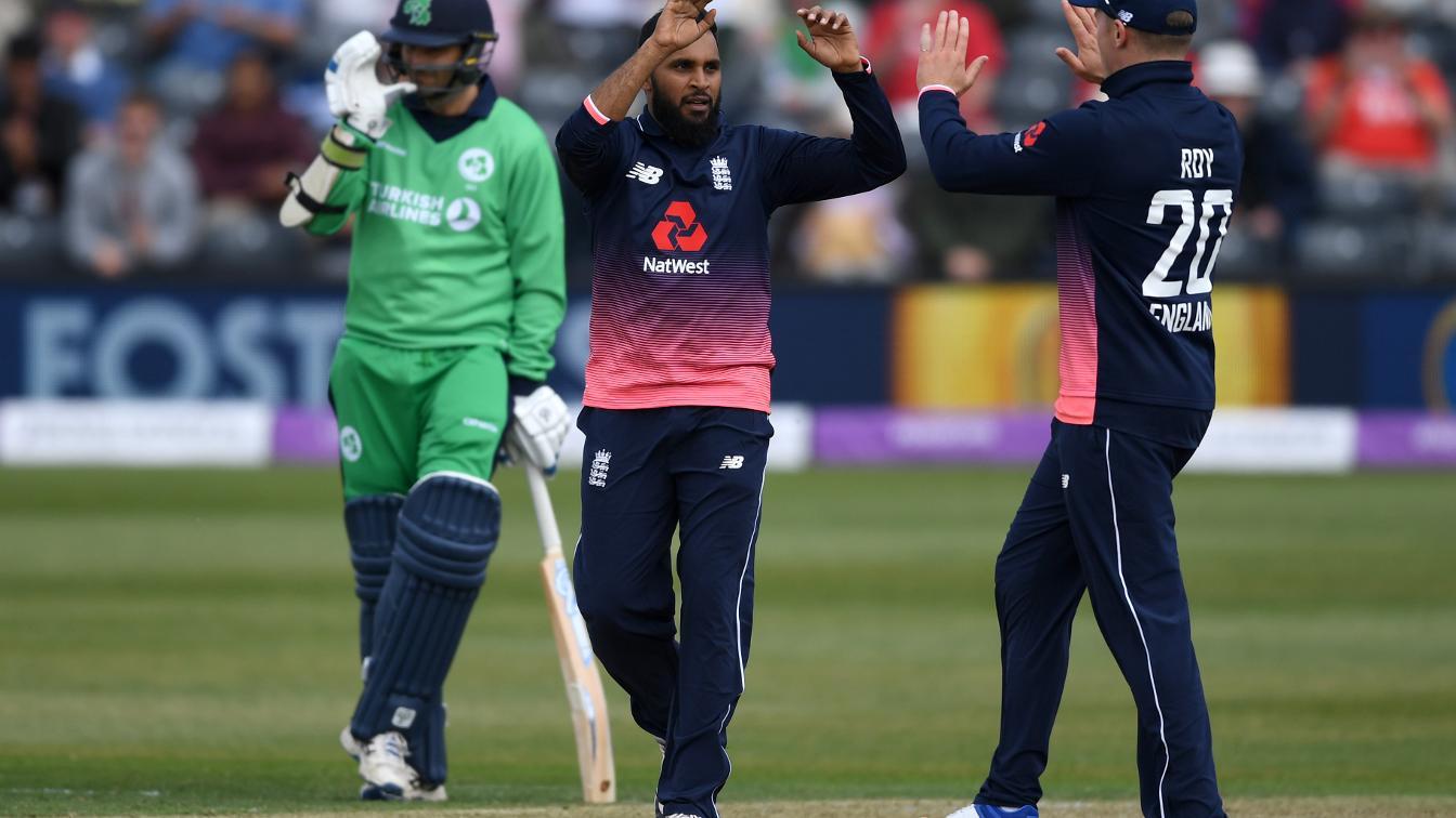 Adil Rashid grabbed his first five-wicket ODI haul in Bristol