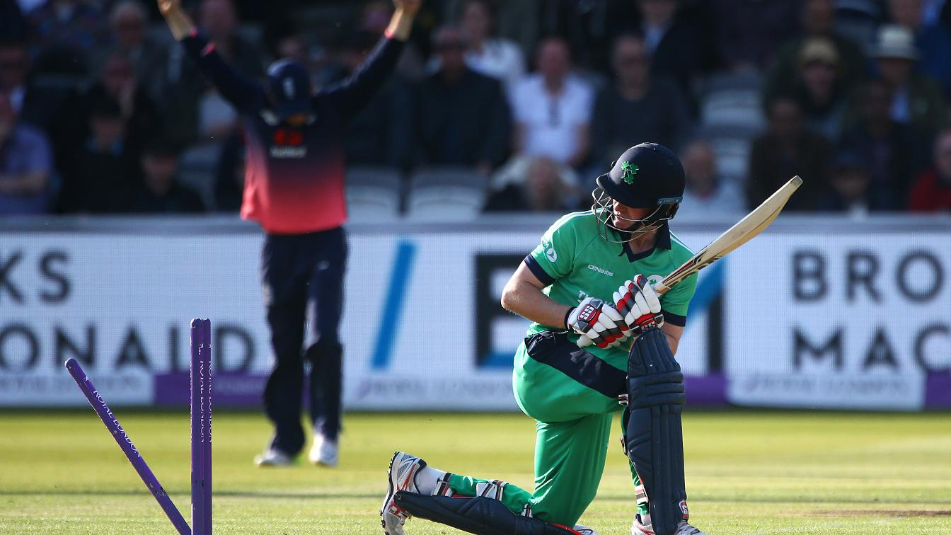 KNOCKED OUT - England have beaten Ireland by 85 runs