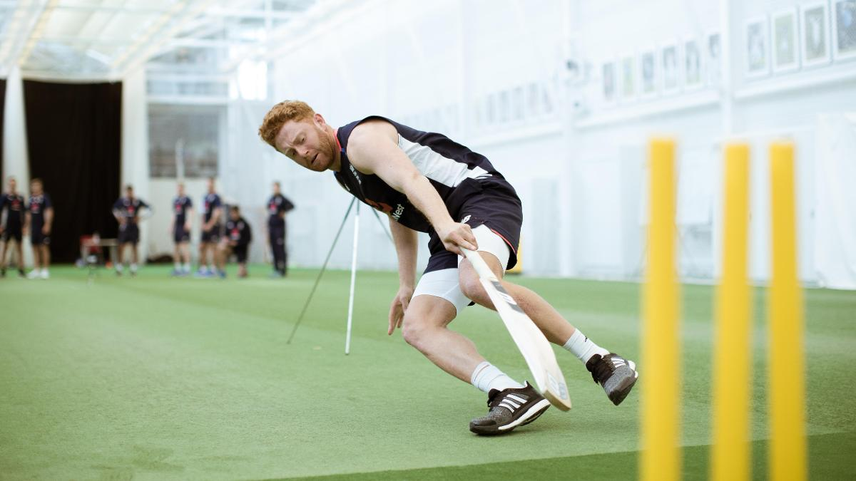 Jonny Bairstow turns during the run two test