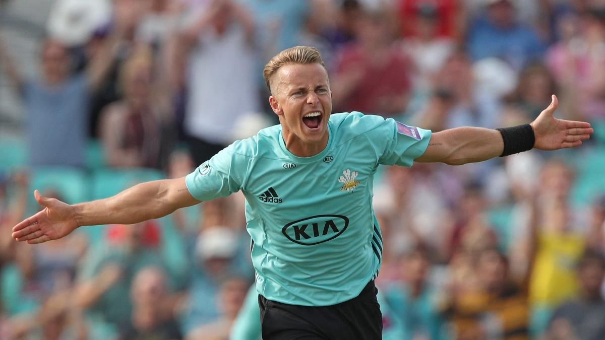Tom Curran in NatWest T20 Blast action for Surrey