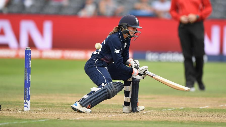 Fran Wilson's sensational reverse ramp shot meant England needed a run a ball from the last six overs