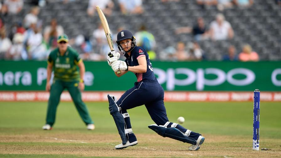 Sarah Taylor hit a classy 54 before being run out