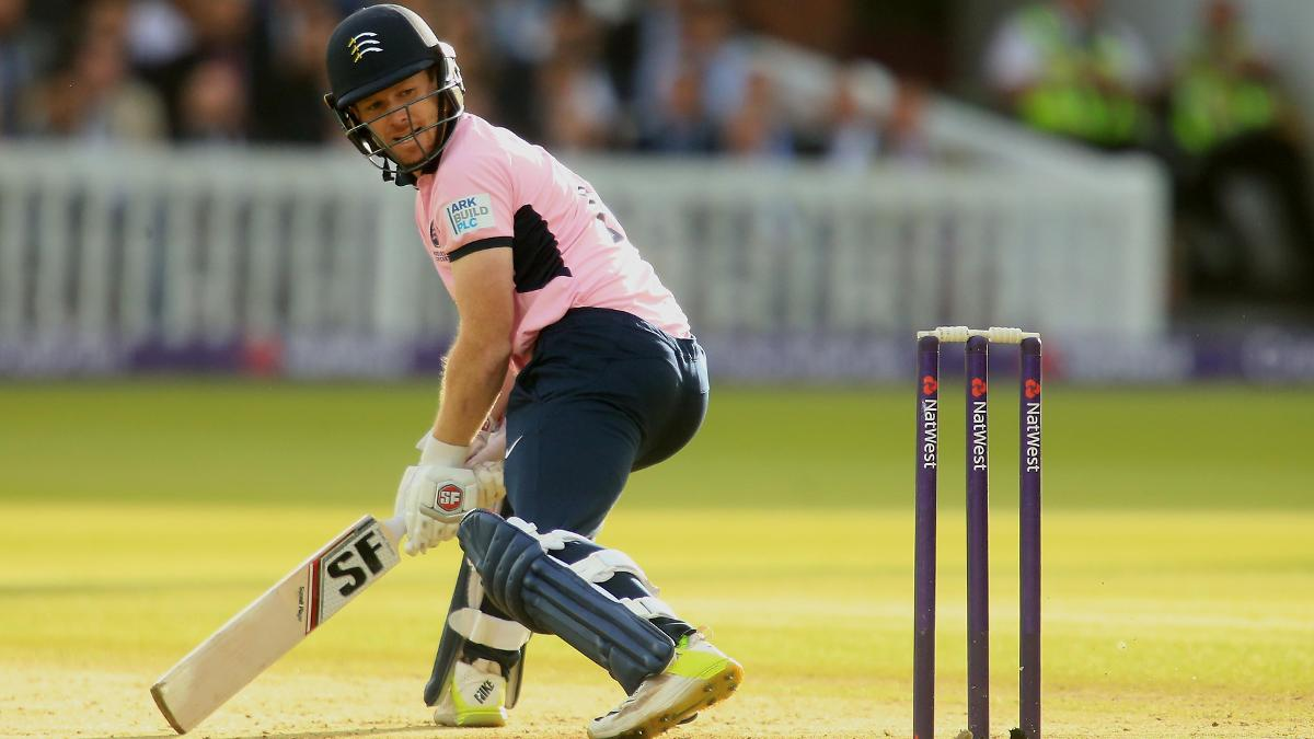 Eoin Morgan in action for Middlesex