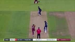 Roy dismissed four short of century