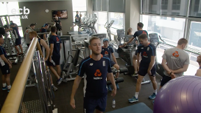 Watch England in the gym