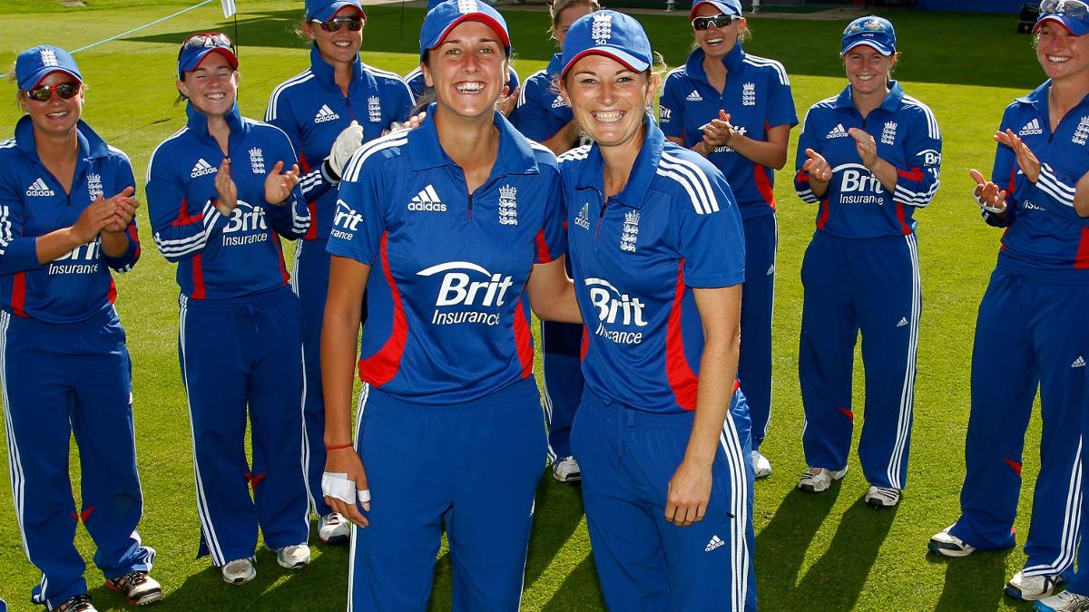 Gunn received her 50th IT20 cap alongside then captain Charlotte Edwards in 2012