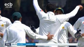 Broad out caught Ahmed bowled Abbas