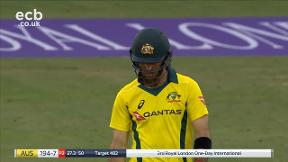 Maxwell out caught Plunkett bowled Willey