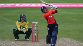 Highlights of England's world-record 250 in IT20 victory over South Africa
