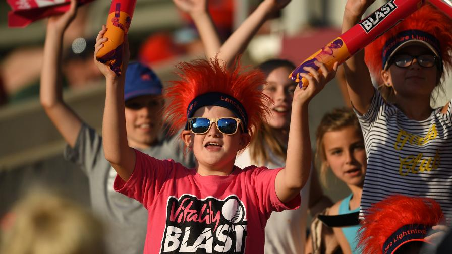 Young fans get in the Vitality Blast mood
