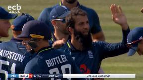 Kohli out, LBW bowled Ali