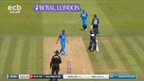 Root run out by Dhoni