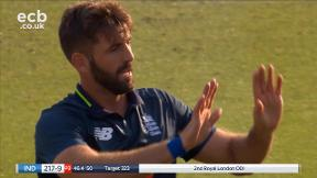 Kaul out, LBW bowled Plunkett