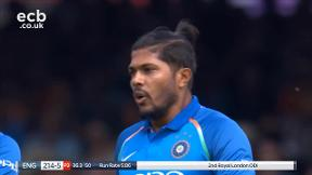 Buttler out, caught Dhoni bowled Umesh