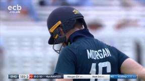 Morgan out, caught Dhawan bowled Kuldeep