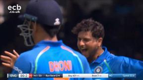 Roy out, caught Umesh bowled Kuldeep