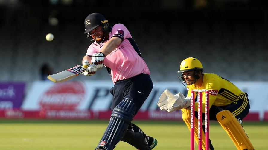 Phenomenal Paul! Middlesex's Paul Stirling ferociously attacks Hampshire