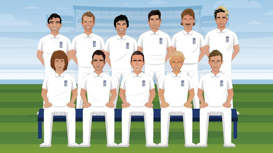 ECB reveals the nation's best-ever England men's Test XI