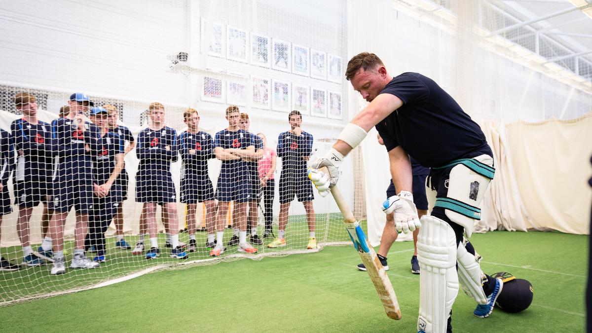 The Ashes winner oversaw a tailored session for the Pathway players