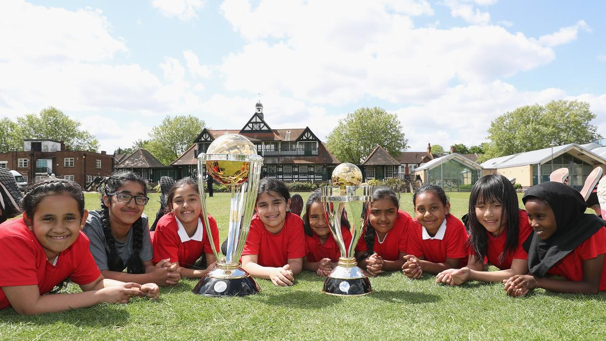 Children at Leyton CC enjoyed an All Stars Cricket session and a visit from the World Cup trophies