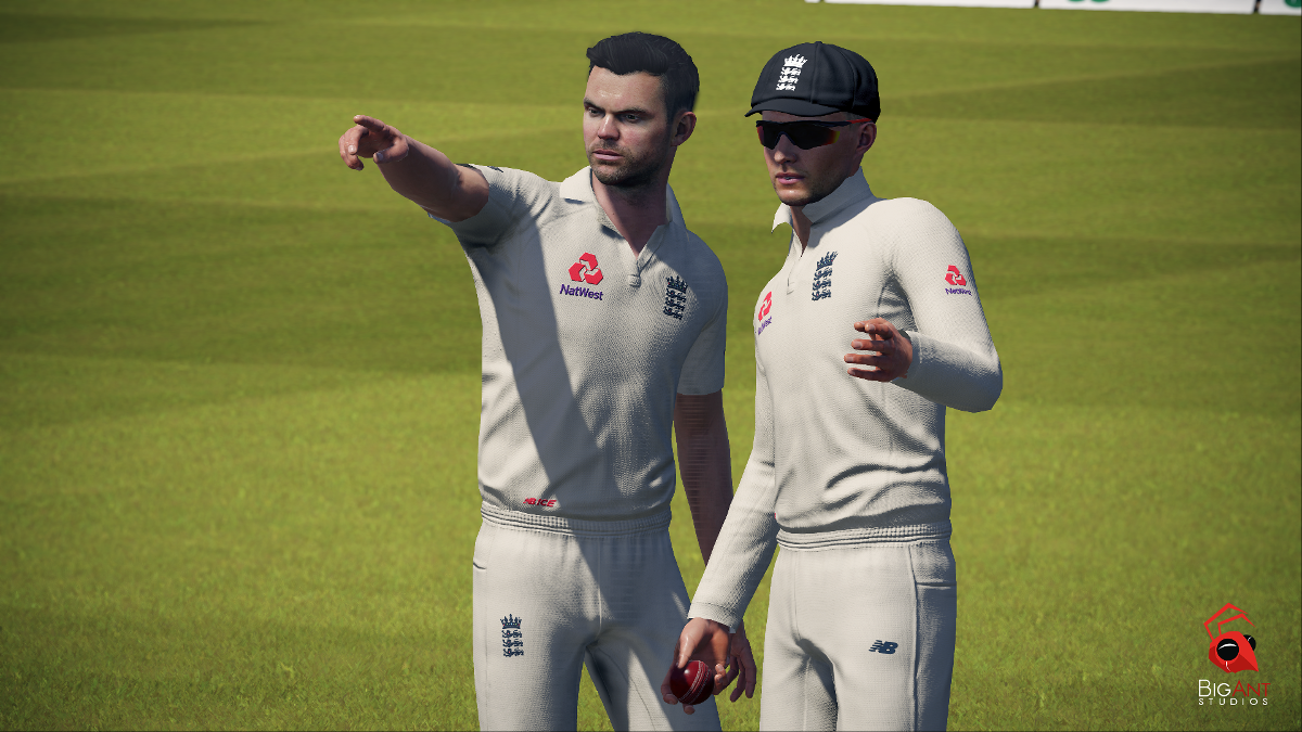 James Anderson and Joe Root in Cricket 19