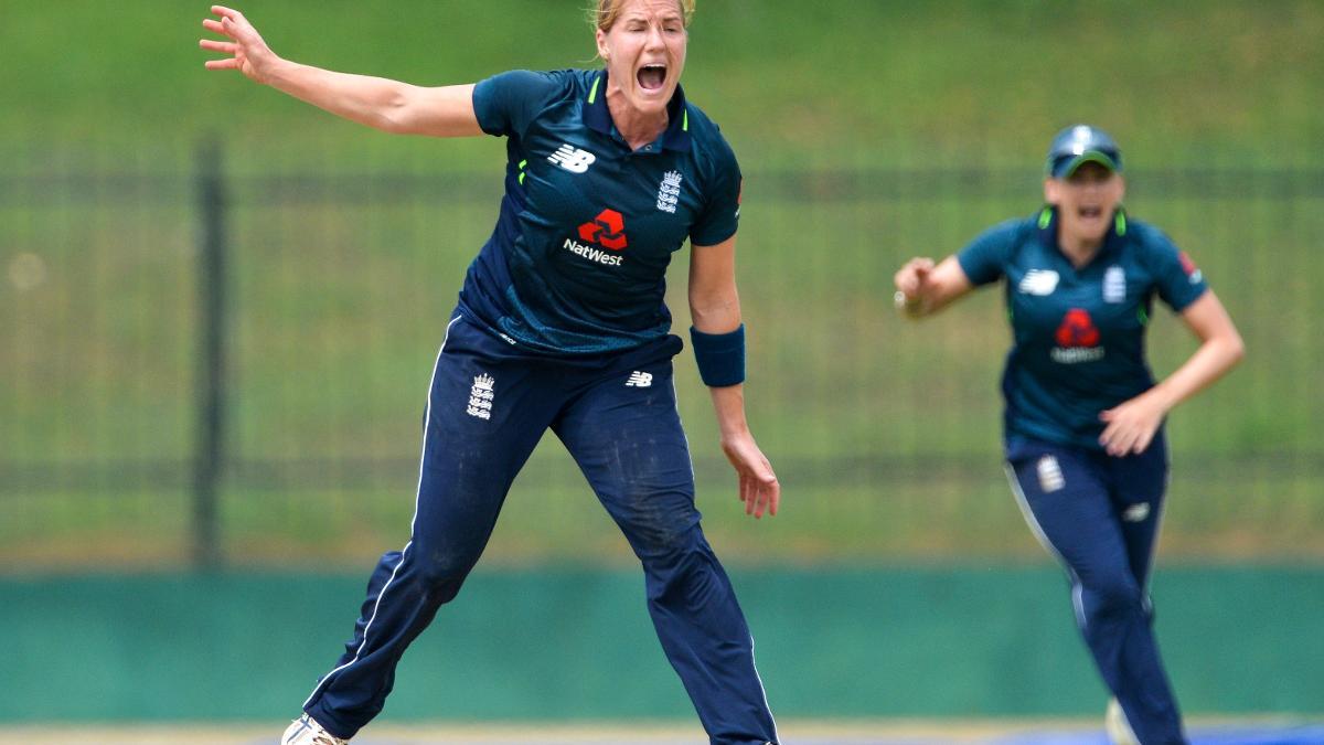 Katherine Brunt gets a wicket in Sri Lanka