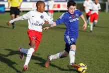 Valentino Livramento in action for Chelsea in the Truce final against Paris St Germain