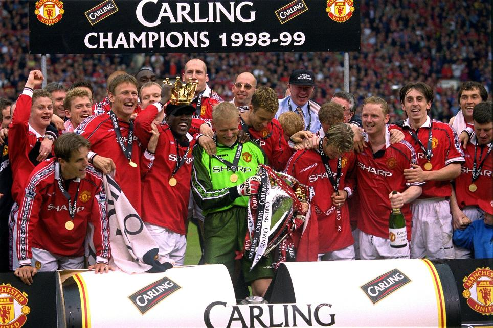 The Premier League title was part of the Treble for Man Utd in 1998/99