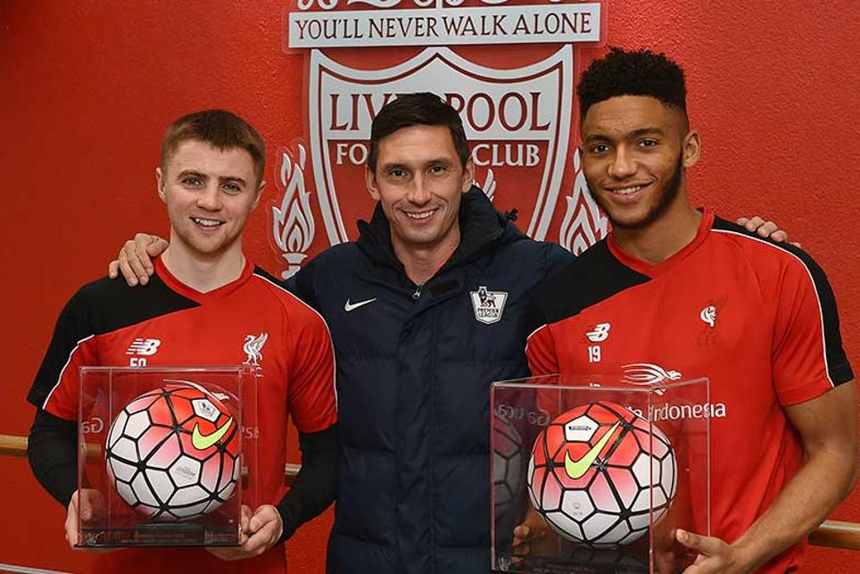 Jordan Rossiter and Joe Gomez made their PL debuts for Liverpool in 2015/16