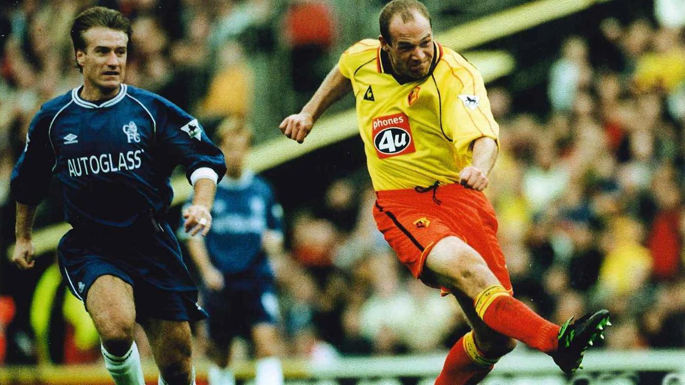 Steve Palmer shoots as Watford beat Chelsea