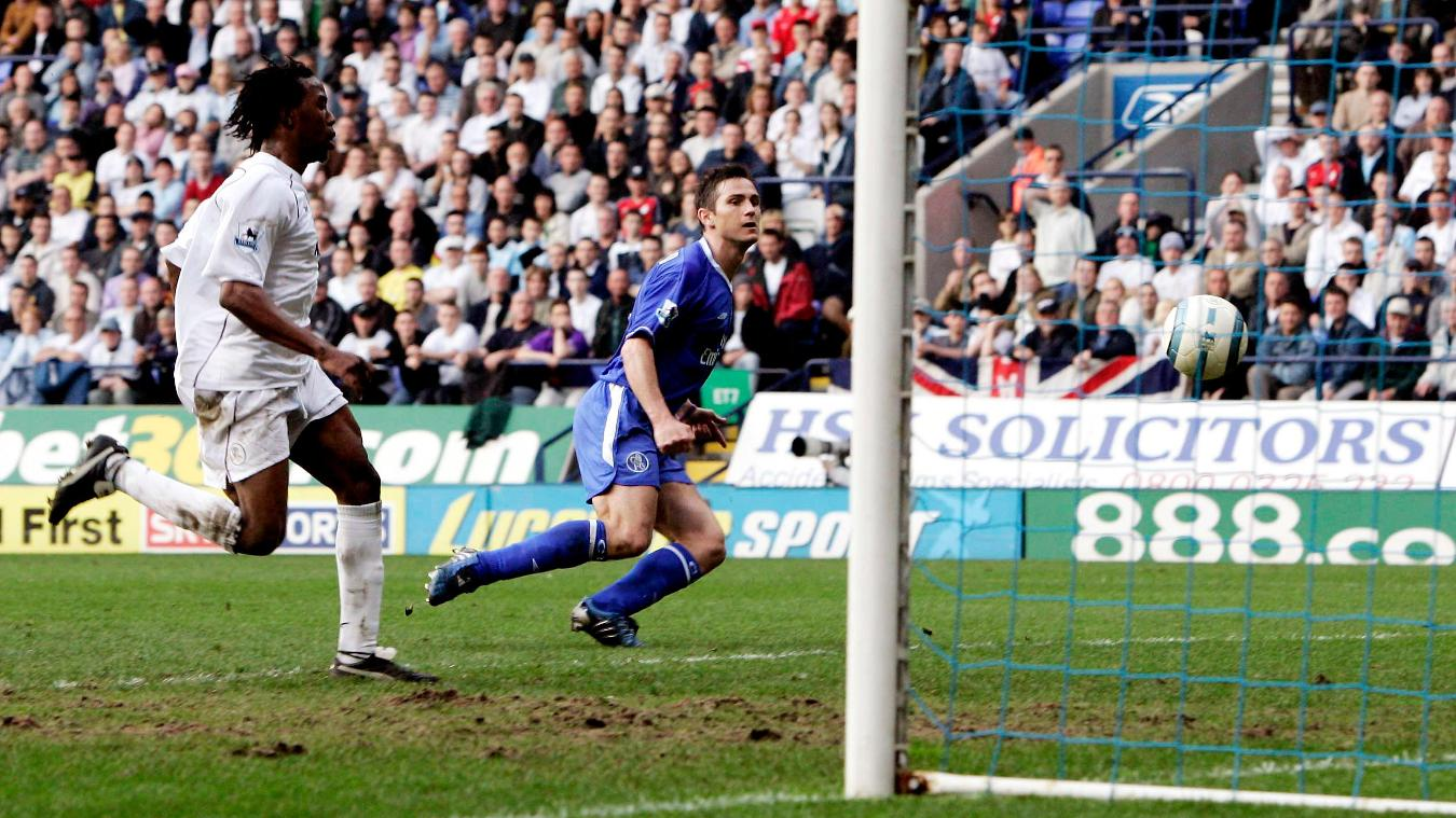 Frank Lampard scores a double against Bolton to clinch Chelsea's BPL title