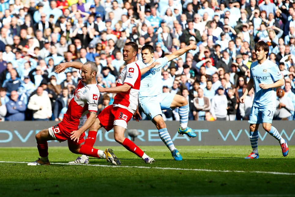 Sergio Aguero scores an extraordinary stoppage-time winner to give Man City the title