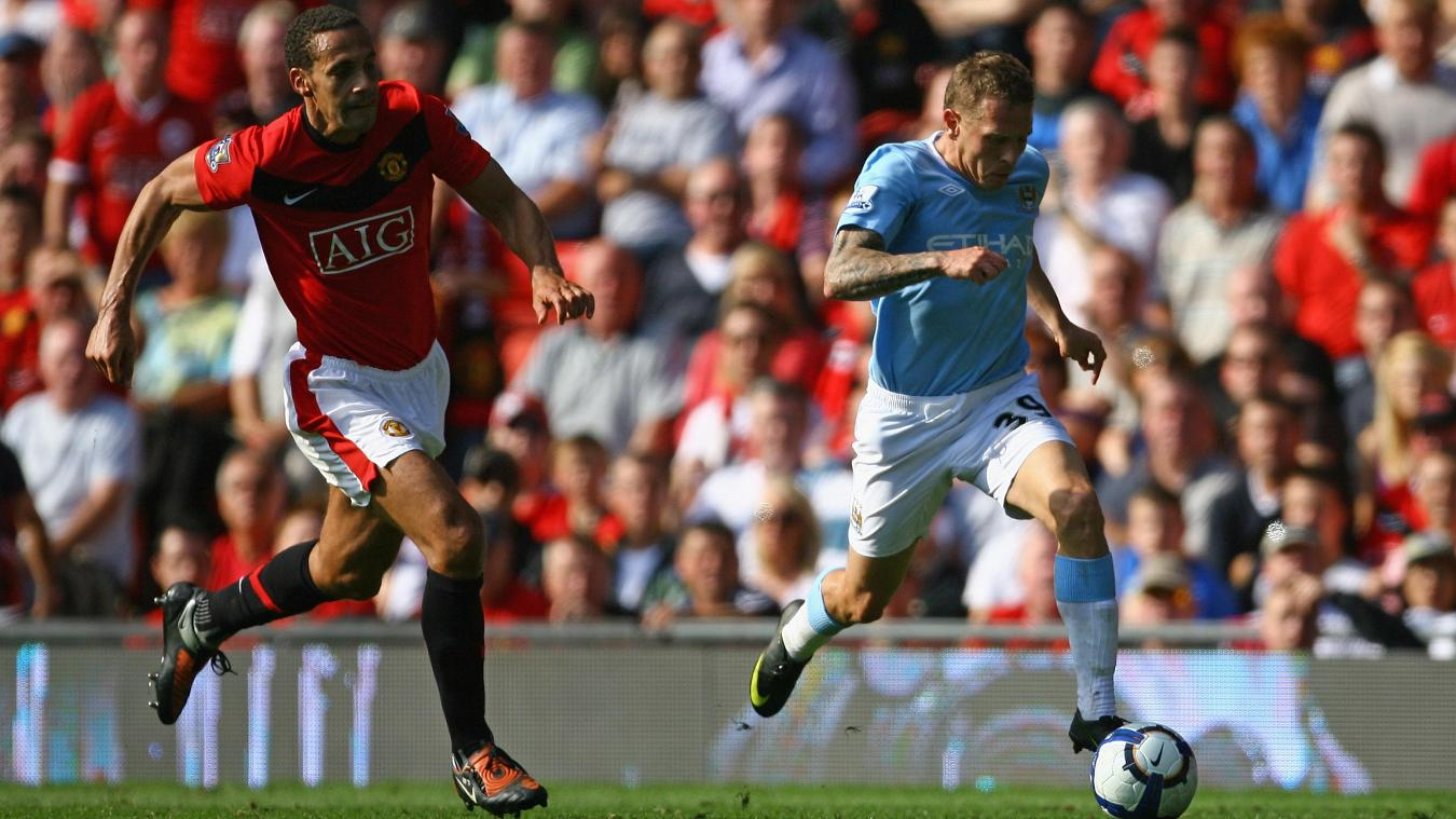 Craig Bellamy races through to score his second goal as City made it 3-3