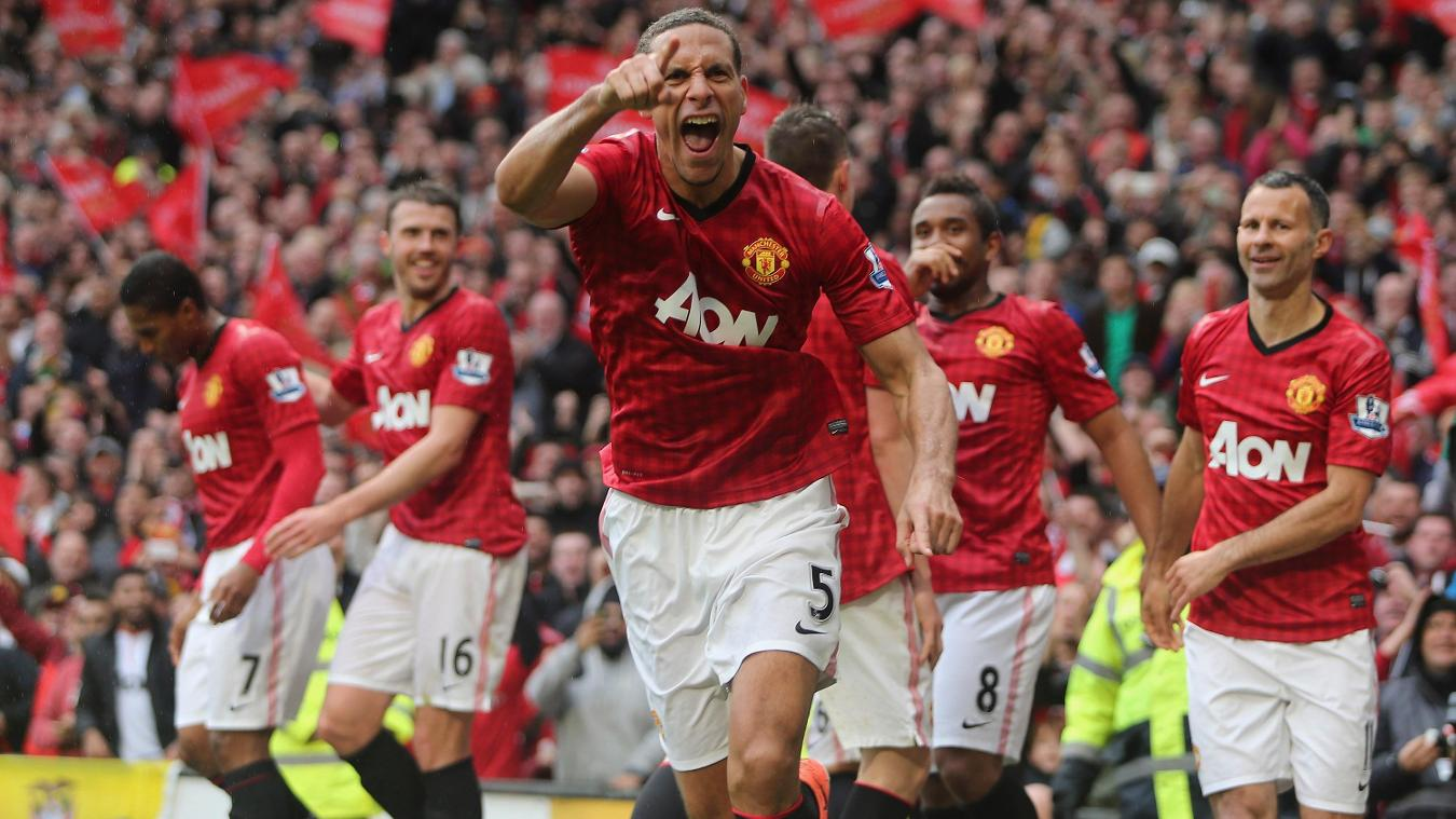 Rio Ferdinand scored the winner in Ferguson's last home match, against Swansea
