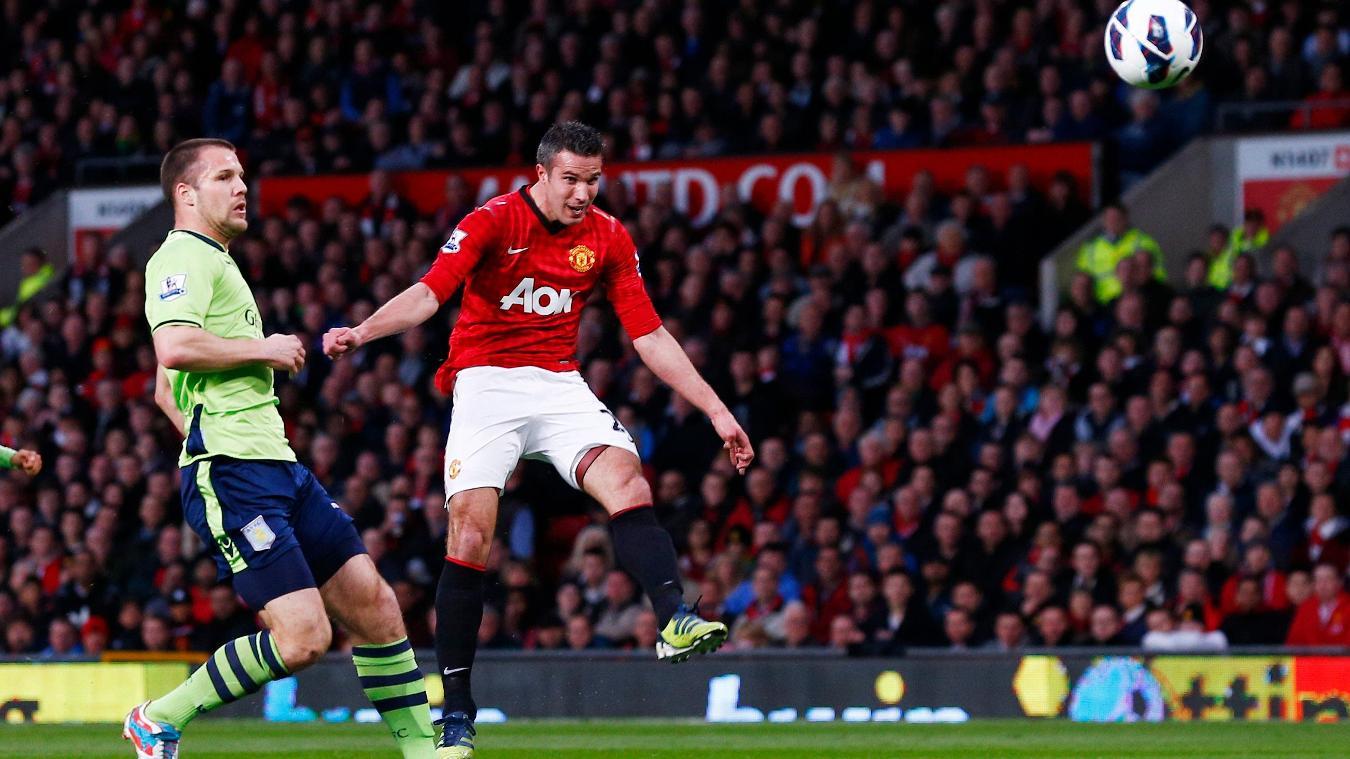 Robin van Persie's volley against Aston Villa was one of 26 goals he scored in 2012/13